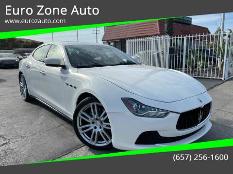 2015 Maserati Ghibli for sale at Euro Zone Auto in Stanton CA