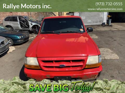 2000 Ford Ranger for sale at Rallye  Motors inc. in Newark NJ