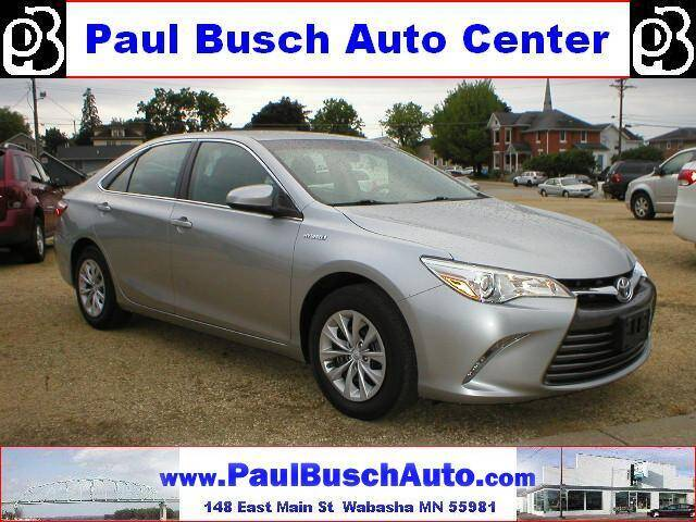 2016 Toyota Camry Hybrid for sale at Paul Busch Auto Center Inc in Wabasha MN