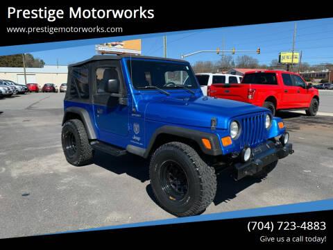 2003 Jeep Wrangler for sale at Prestige Motorworks in Concord NC