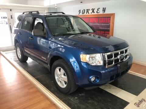2008 Ford Escape for sale at Forkey Auto & Trailer Sales in La Fargeville NY