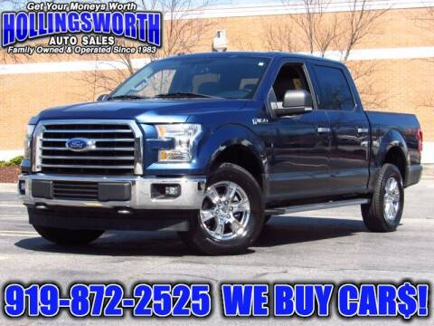 2017 Ford F-150 for sale at Hollingsworth Auto Sales in Raleigh NC