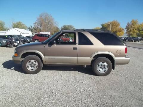 2003 Chevrolet Blazer for sale at BRETT SPAULDING SALES in Onawa IA