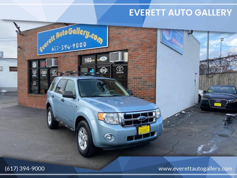 2008 Ford Escape Hybrid for sale at Everett Auto Gallery in Everett MA