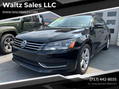 2013 Volkswagen Passat for sale at Waltz Sales LLC in Gap PA