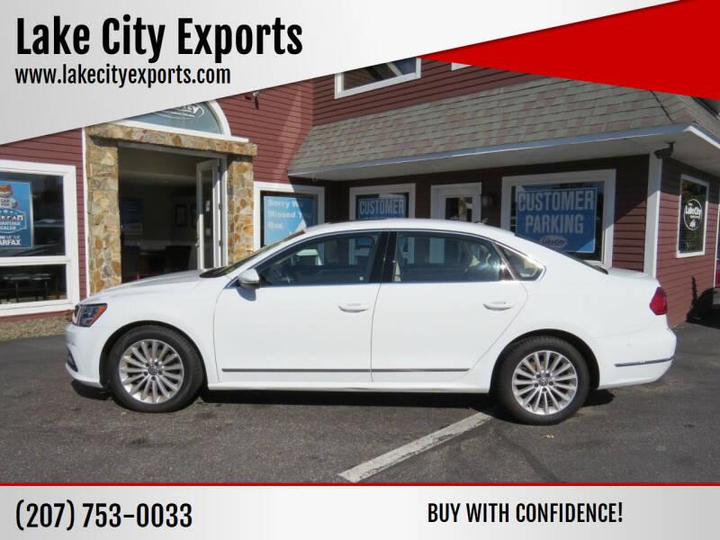 2016 Volkswagen Passat for sale at Lake City Exports in Auburn ME