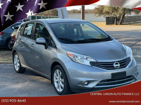 2014 Nissan Versa Note for sale at Central Union Auto Finance LLC in Austin TX