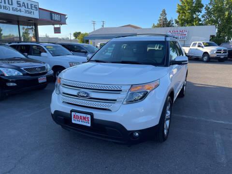 2013 Ford Explorer for sale at Adams Auto Sales in Sacramento CA