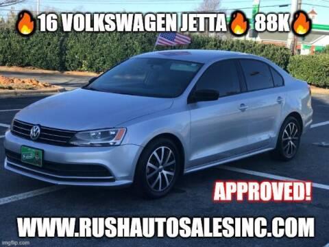 2016 Volkswagen Jetta for sale at RUSH AUTO SALES in Burlington NC