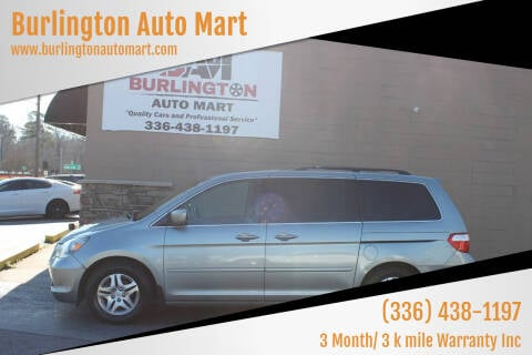 2007 Honda Odyssey for sale at Burlington Auto Mart in Burlington NC