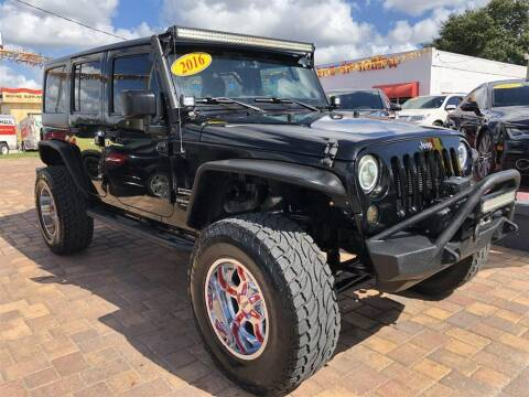 2016 Jeep Wrangler Unlimited for sale at Cars of Tampa in Tampa FL