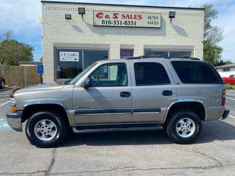 2001 Chevrolet Tahoe for sale at C & S SALES in Belton MO