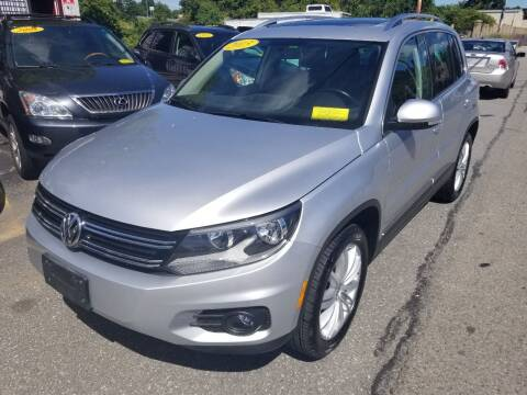 2013 Volkswagen Tiguan for sale at Howe's Auto Sales in Lowell MA