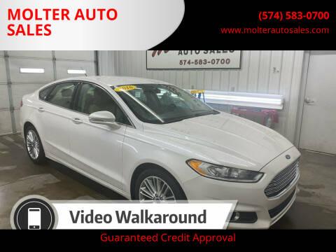 2016 Ford Fusion for sale at MOLTER AUTO SALES in Monticello IN