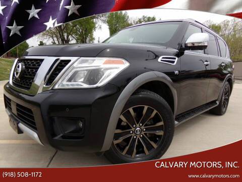 2017 Nissan Armada for sale at Calvary Motors, Inc. in Bixby OK