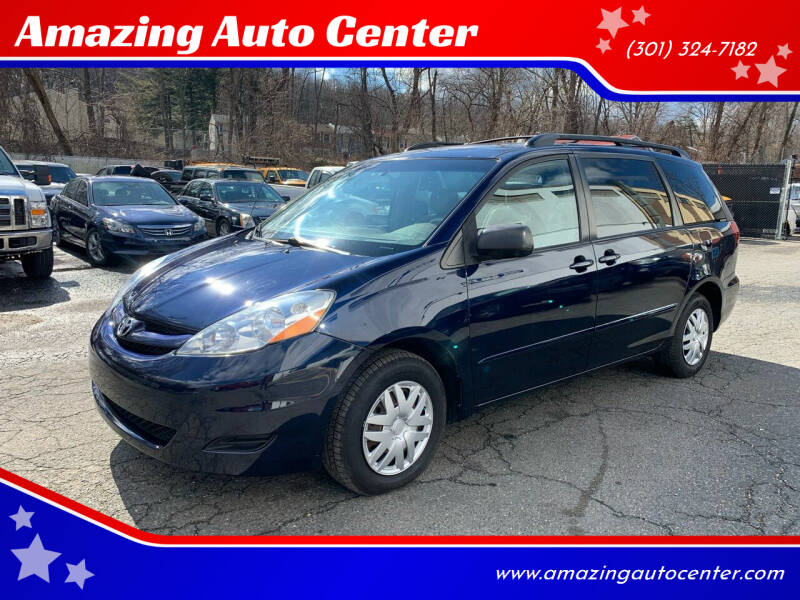 2007 Toyota Sienna for sale at Amazing Auto Center in Capitol Heights MD