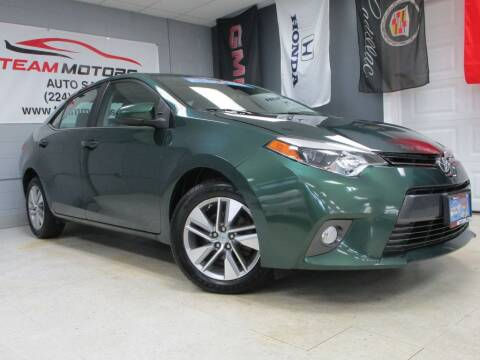 2015 Toyota Corolla for sale at TEAM MOTORS LLC in East Dundee IL