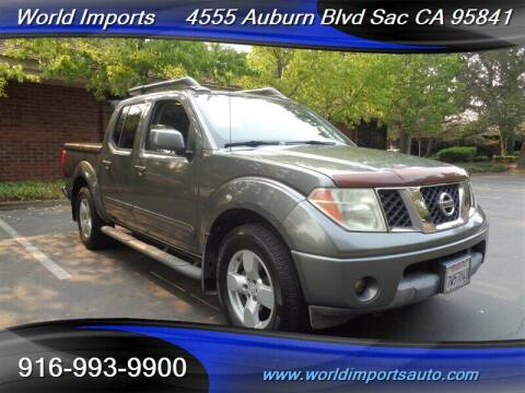 2005 Nissan Frontier for sale at World Imports in Sacramento CA