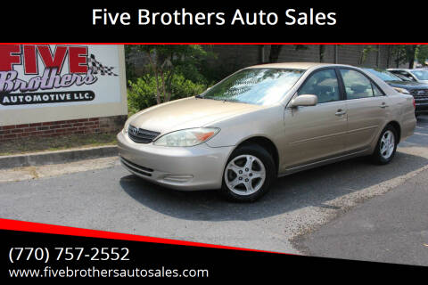 2003 Toyota Camry for sale at Five Brothers Auto Sales in Roswell GA