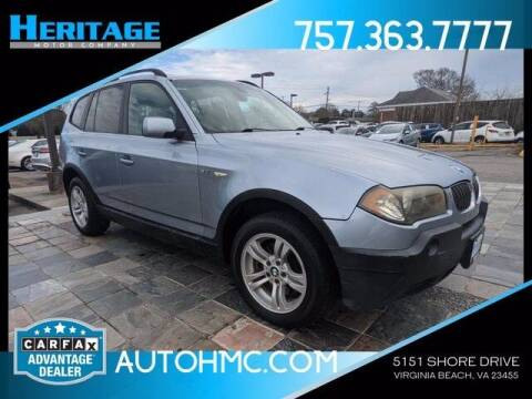 2005 BMW X3 for sale at Heritage Motor Company in Virginia Beach VA