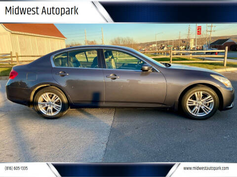 2010 Infiniti G37 Sedan for sale at Midwest Autopark in Kansas City MO