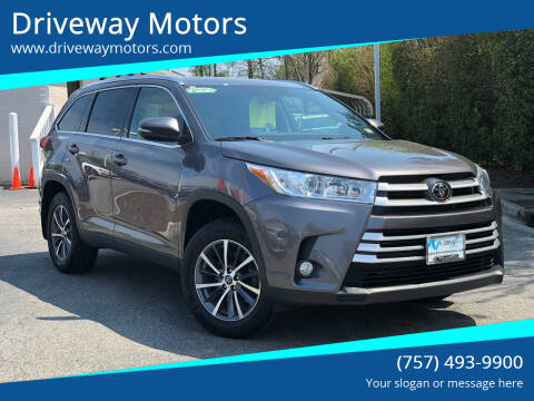 2019 Toyota Highlander for sale at Driveway Motors in Virginia Beach VA