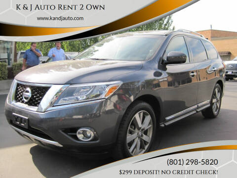2014 Nissan Pathfinder for sale at K & J Auto Rent 2 Own in Bountiful UT