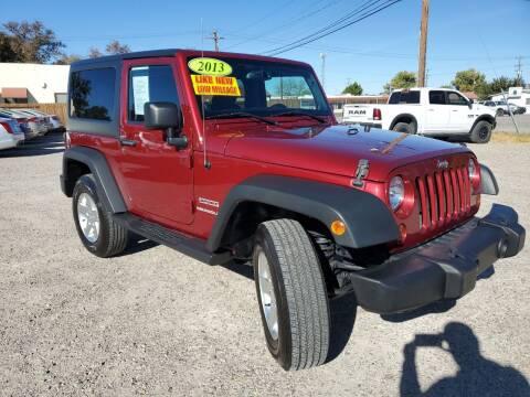 2013 Jeep Wrangler for sale at CHURCHILL AUTO SALES in Fallon NV
