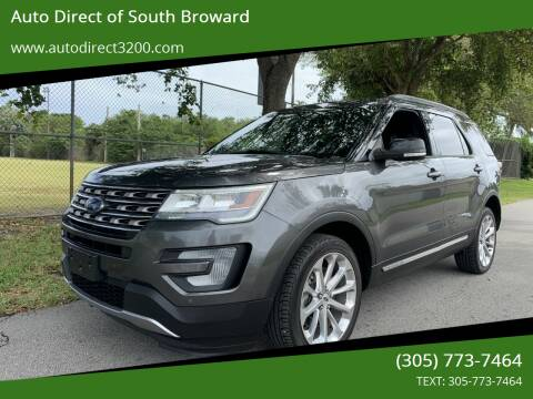 2017 Ford Explorer for sale at Auto Direct of South Broward in Miramar FL