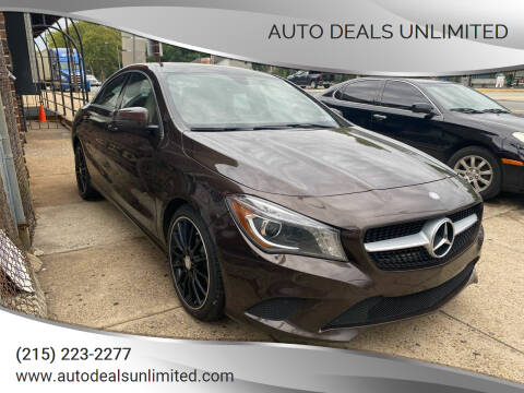 2014 Mercedes-Benz CLA for sale at AUTO DEALS UNLIMITED in Philadelphia PA