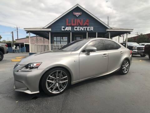 2015 Lexus IS 350 for sale at LUNA CAR CENTER in San Antonio TX