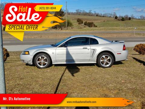 2002 Ford Mustang for sale at Mr. D's Automotive in Piney Flats TN