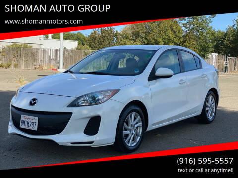 2012 Mazda MAZDA3 for sale at SHOMAN MOTORS in Davis CA