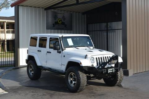 2016 Jeep Wrangler Unlimited for sale at G MOTORS in Houston TX