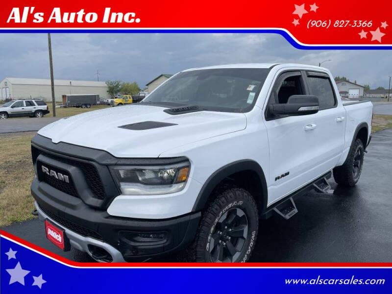 2019 RAM Ram Pickup 1500 for sale at Al's Auto Inc. in Bruce Crossing MI