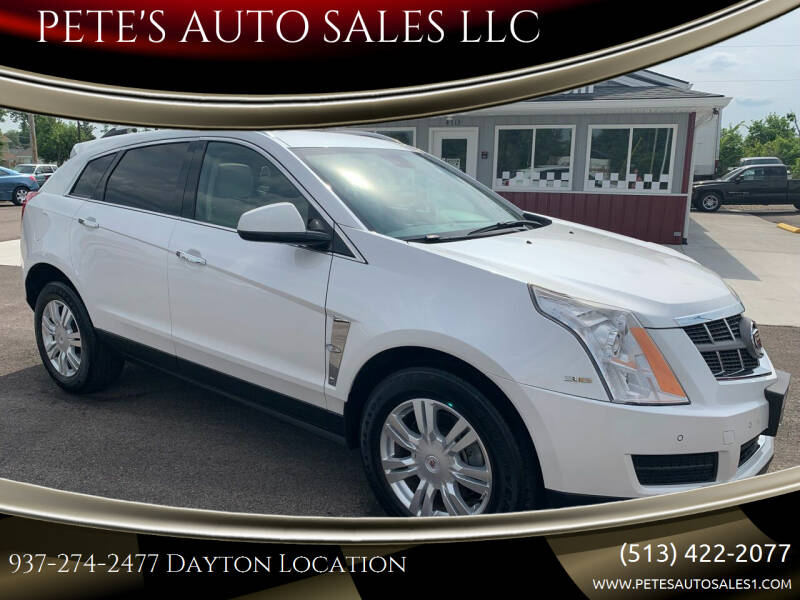 2012 Cadillac SRX for sale at PETE'S AUTO SALES LLC - Middletown in Middletown OH