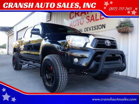 2015 Toyota Tacoma for sale at CRANSH AUTO SALES, INC in Arlington TX