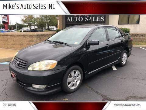 2004 Toyota Corolla for sale at Mike's Auto Sales INC in Chesapeake VA