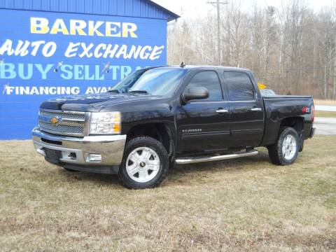 2012 Chevrolet Silverado 1500 for sale at BARKER AUTO EXCHANGE in Spencer IN