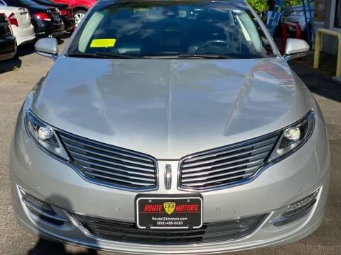 2013 Lincoln MKZ for sale at Route 123 Motors in Norton MA