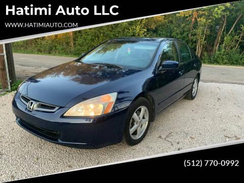 2004 Honda Accord for sale at Hatimi Auto LLC in Buda TX
