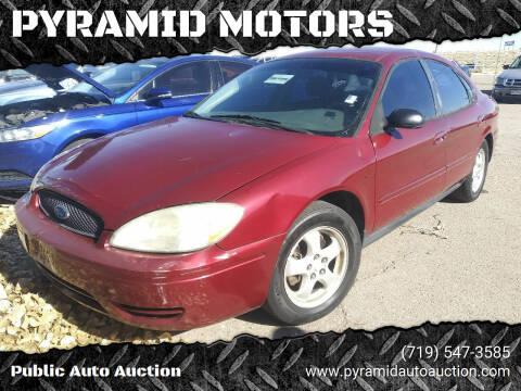 2006 Ford Taurus for sale at PYRAMID MOTORS - Pueblo Lot in Pueblo CO