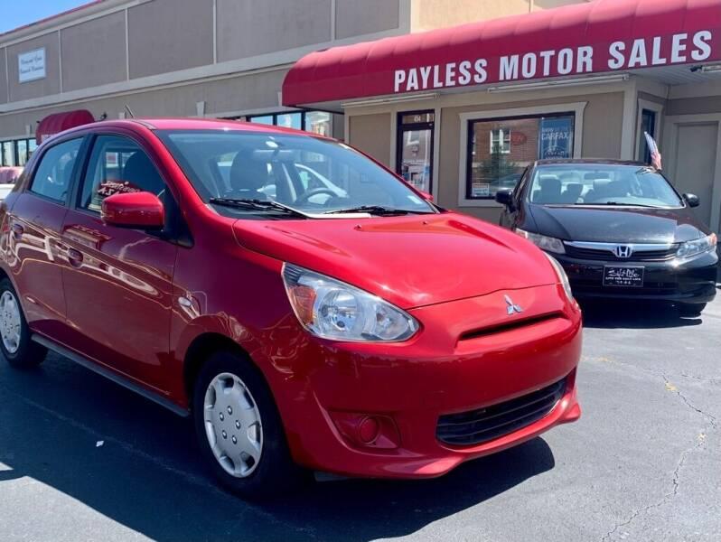 2015 Mitsubishi Mirage for sale at Payless Motor Sales LLC in Burlington NC
