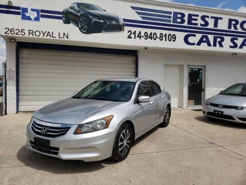 2012 Honda Accord for sale at Best Royal Car Sales in Dallas TX