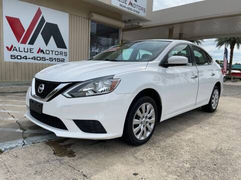 2016 Nissan Sentra for sale at VALUE MOTORS in Kenner LA