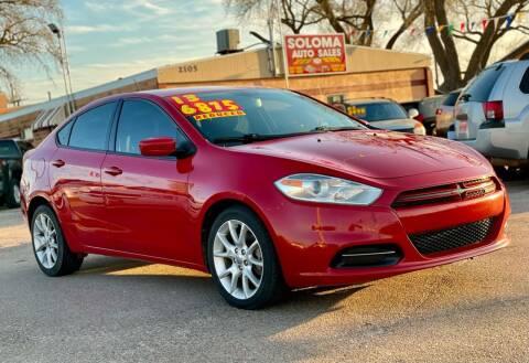 2013 Dodge Dart for sale at SOLOMA AUTO SALES 2 in Grand Island NE