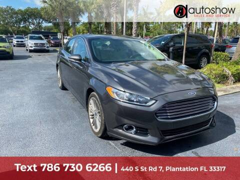 2015 Ford Fusion for sale at AUTOSHOW SALES & SERVICE in Plantation FL