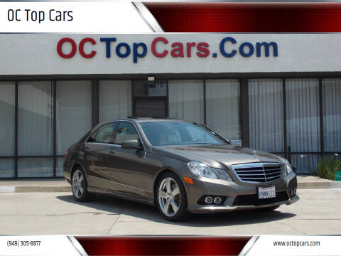 2010 Mercedes-Benz E-Class for sale at OC Top Cars in Irvine CA