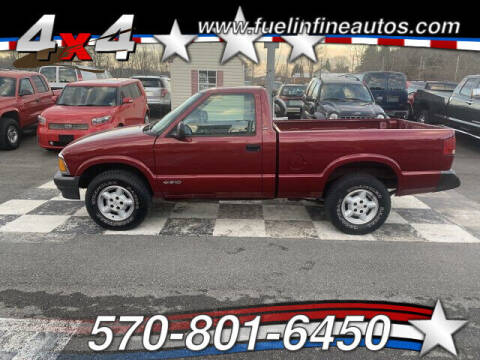 1996 Chevrolet S-10 for sale at FUELIN FINE AUTO SALES INC in Saylorsburg PA