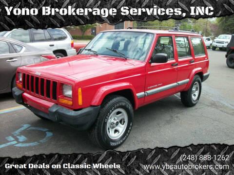 2001 Jeep Cherokee for sale at Yono Brokerage Services, INC in Farmington MI
